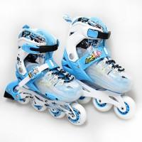 PROMO! SEPATU RODA/ INLINE SKATE WEIQIU JS BLUE