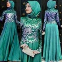 Jual Baju Gamis Pesta Muslimah Modern Anastasya Tosca set Diskon Murah