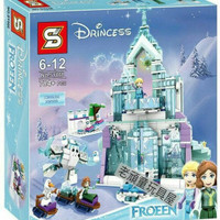 Mainan Edukasi Bricks Frozen SY868  Elsa Magical Ice Palace