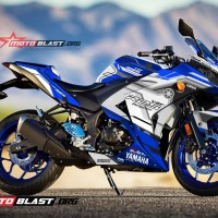 Decal Stiker R25 BLUE RACING SPORT WHITE FULLBODY