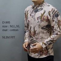 Jual Baju kemeja fashion Pria Cowok Batik Slim Fit Lengan Panjang Murah  Murah
