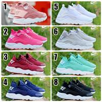 Sepatu Wanita Nike Huarache Sneakers Kasual Sport Running Olahraga GO