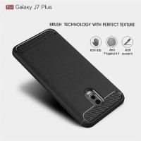 TRENDY Case Samsung Galaxy J7 Plus Carbon Fiber Case Samsung Galaxy J