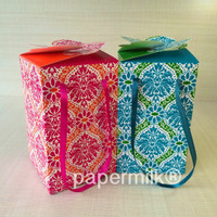 Papermilk BXH 602 F, Kotak Tenteng Untuk 4 Toples 250 Gram Kue Kering