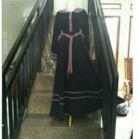 Gamis Naura Umbrella Baju Muslimah Set Bergo dan Cadar Tali