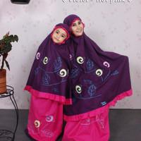 Mukena couple/sarimbit ibu dan anak Aurel by Fathiya anak ukuran M