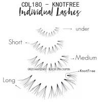 CDL180-POT KNOTFREE Natural Look - Individual Lashes -  Bulu Mata Indi