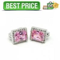 Anting Wanita Cube Zircon - Pink