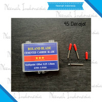 Mata Pisau Mesin Cutting Sticker Roland Blade 45 Isi 3 Pcs