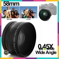 Super Wide Angle Lens with Macro 58mm for Canon