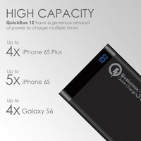 Powerbank Quick Charge USB 3.0 UNEED 12000MAH Fast Charge Samsung S8 9