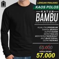 Kaos Polos Lengan panjang Katun Bambu / Cotton Bamboo