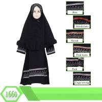 Gamis Arab Anak Usia 5-9tahun Bahan Wolfis Hijab Syiria Swarovski