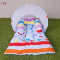 Kasur Bayi Lipat Kelambu Set | Matras Anak | Tempat Tidur Baby Lucu