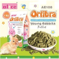 AE108 Alice Orbifra Young Rabbit Food Pellet 1kg Makanan Anak Kelinci