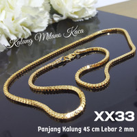 XX33 Kalung Milano Kaca 45 cm Xuping Yaxiya - Perhiasan Lapis Emas 18K