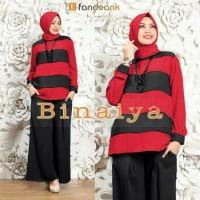 SETELAN KULOT BINAIYA baju fashion muslim hijab wanita motif bunga