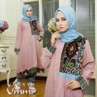 asd setelan XL hijab muslim anaya set dusty pink / baju wanita pakaian