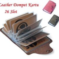 Branded Real Leather Dompet Kartu Kulit Motif Design Export Quality