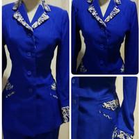 Jas Blazer Baju Kerja Wanita Benhur batik Modern Keren Bank BCA BRI