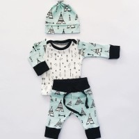 e740df28380 Baby Boys or Girls Long Sleeve Tops Pants Leggings Hat Outfits S