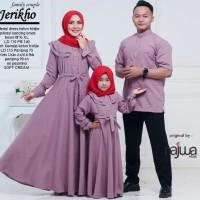 PROMO SPESIAL Baju gamis dan kemeja ibu anak ayah jerikho couple