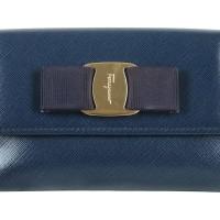 Salvatore Ferragamo Dark Blue Wallet Dompet Wanita Aksesoris Original