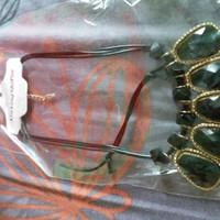 Kalung necklace batu hitam motif murah fashion aksesoris
