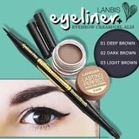 LANDBIS EYEBROW GEL 3 in 1 with eyeliner + BRUSH ORIGINAL