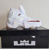 Sepatu Basket Nike Lebron 13 BNIB Premium Original White X Air Jordan 067e3dd89c