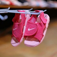 "Sandal Nike Sunray Adjust 4 Kids Anak Original ""Tropical Pink Cora"""