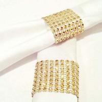10 pcs Berlian Cincin Serbet Pemegang Serbet Pernikahan Bungkus untuk