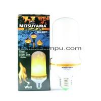 Lampu API Bohlam Api LED E27 Flame Effect Mitsuyama MS 8207A