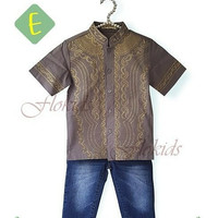 Setelan Koko Celana Flo Kids E| Baju Anak Import Muslim Baju Koko Gr