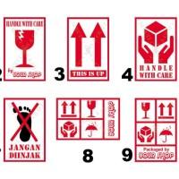Sticker Fragile Bisa Tulis Nama Toko