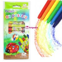 Flomo Oil Pastels 12 Colours / Pensil Crayon - Flomo Pensil Warna