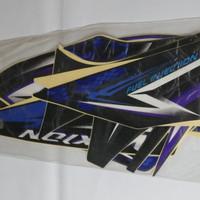 Stiker Bodi & Lis Body & Striping Vixion 2008 Hitam Biru