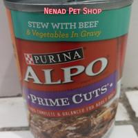 Alpo Prime Cuts Stew With Beef 374gr/Makanan Anjing Kaleng/Dog Food
