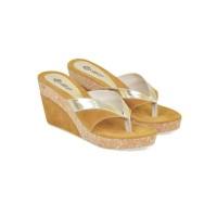 Sandal Wedges Wanita  coklat tan CBR Six PJC 003 cibaduyut original