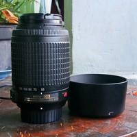 Lensa Panjang Tele nikon nikkor 55-200mm af-s mulus murah