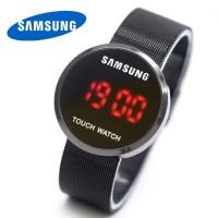 Jam Tangan Unisex Samsung Watch LED Rantai Pasir Full Black