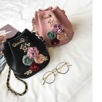 UT1765 - 1768 tas import selempang SERUT bunga sling bag batam wanita