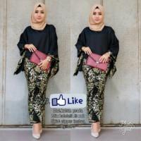 Setelan Baju Wanita Kebaya Modern Batik Jumbo Batwing Tanah Abang