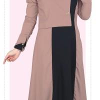 Baju Muslim Koko Pakistan Gamis Dress Casual Wanita Pria Anak Cream