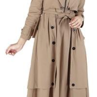 Baju Muslim Koko Pakistan Gamis Dress Casual Wanita Pria Anak Coklat