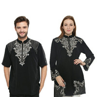 Busana Muslim Coulpe Terbaru JSR 315/Baju Koko Pria dan Blouse Wanita