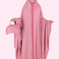 Baju Muslim Koko Pakistan Gamis Dress Mukena Wanita Pria Anak Pink
