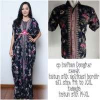 Fida Couple batik 2in1 dress maxi panjang kaftan dan atasan M – XL