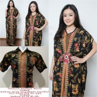 Farida Couple batik 2in1 dress maxi panjang kaftan dan atasan M – XL