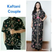 Farda Couple batik 2in1 dress maxi panjang kaftan dan atasan M – XL